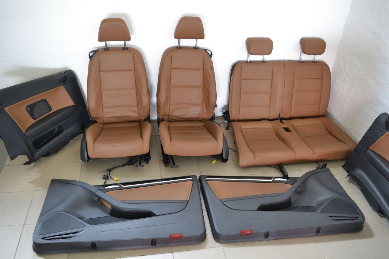 original vw golf 6 cabrio sitze sitzausstattung leder mit. Black Bedroom Furniture Sets. Home Design Ideas