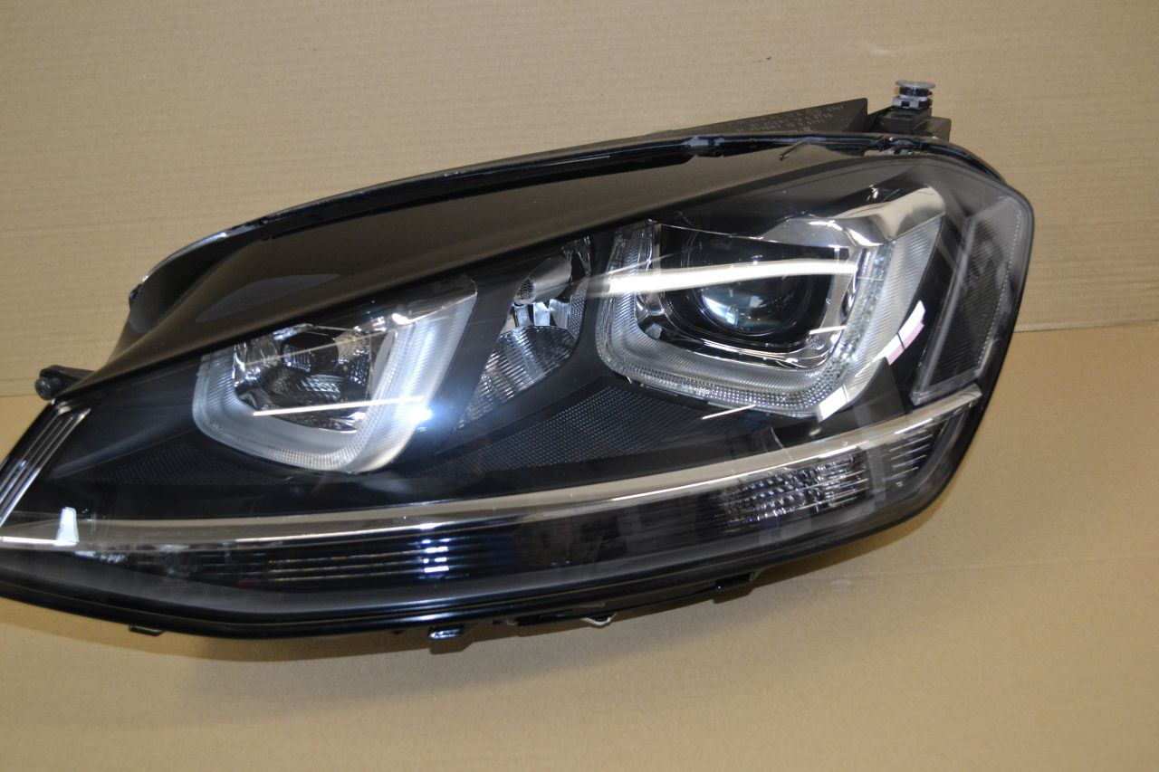 original vw golf 7 scheinwerfer links bixenon led. Black Bedroom Furniture Sets. Home Design Ideas