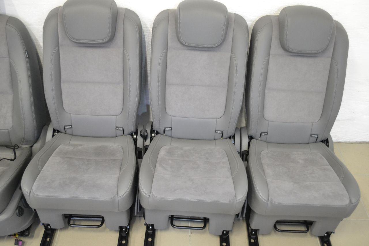 original vw sharan sitzausstattung leder alcantara sitze einzelsitze grau a16513 ebay