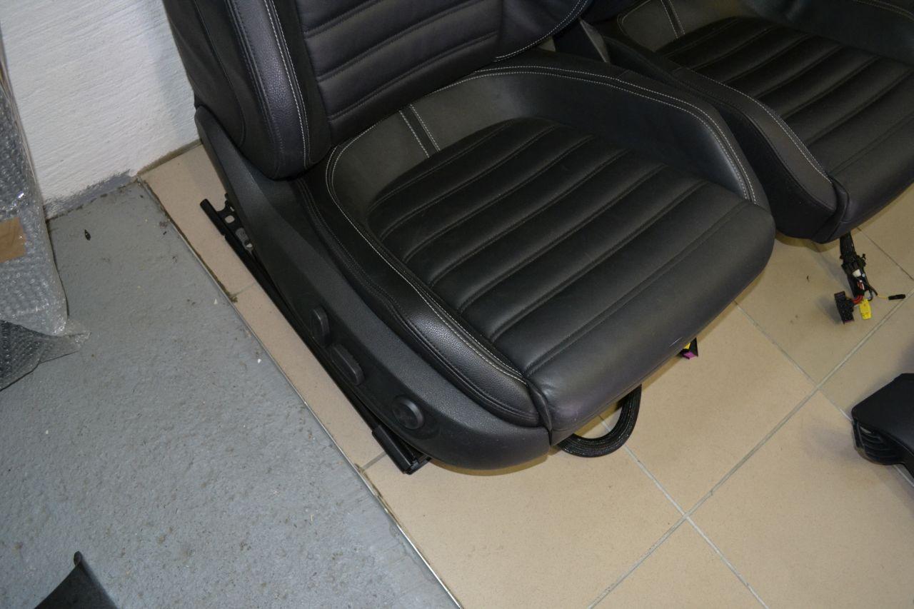 original vw passat cc sitzausstattung sitzr leder schwarz elektrisch mit memory ebay. Black Bedroom Furniture Sets. Home Design Ideas